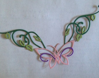 Butterfly and Vines Border Die Cut