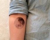 2 Full Moon Temporary Tattoos - SmashTat