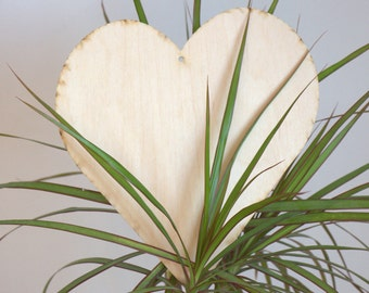 Set of 2 large wooden hearts for your wedding