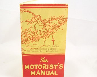 Vintage The Motorist Manual 1950's