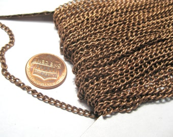 10 ft Copper Tone Curb Chains Links-Opened 4x3mm ( No.02)