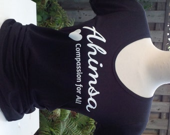 Ahimsa - Compassion for All - Bamboo & Organic Cotton Scoop Neck Tee