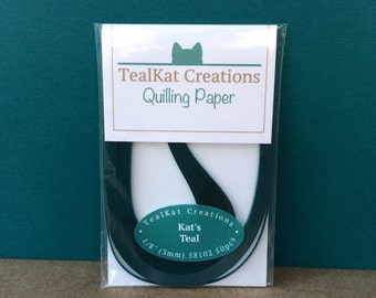 Kat's Teal Quilling Paper