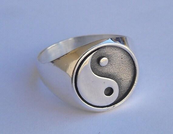 yin yang ring sterling silver 925