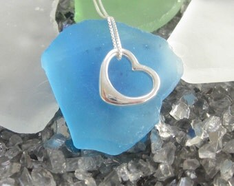 Dangling Heart Necklace- Sterling Silver