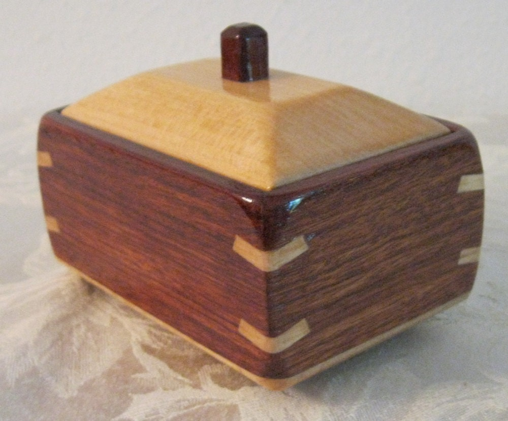 Decorative wooden box made of bubinga and maple wood 5w - Decorative wooden crates ...
