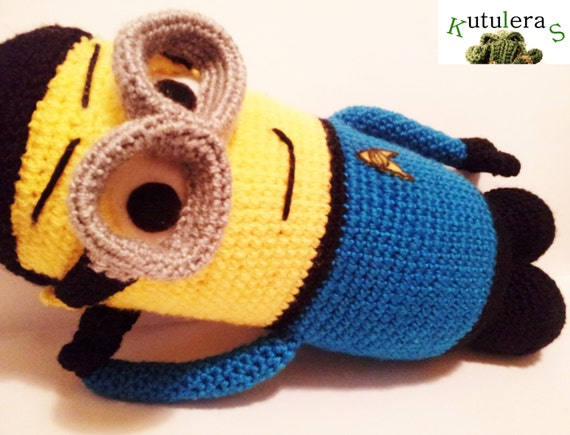 Amigurumi Minion Etsy : MINION AMIGURUMI SPOCK despicable me star trek doll by ...