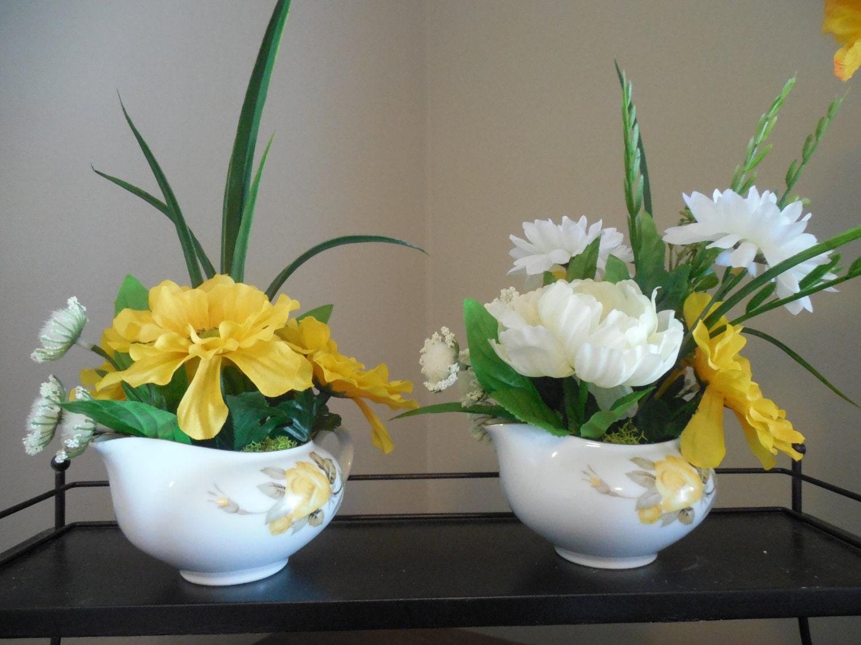 Small Flower Arrangement Tea Cup Flowers Silk Floral