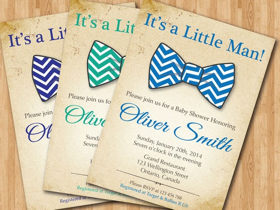 Bow Tie Invitations Baby Shower for amazing invitations ideas