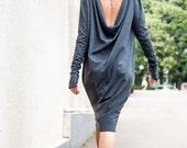 Backless Dress, Wrap Dress, Midi Dress, Kimono Dress TDK09, Caftan by TEYXO, Maternity Dress