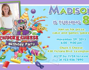 Chuck E Cheese Birthday Invitations gangcraftnet