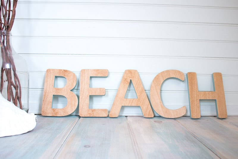 beach sign wall hanging wooden signwooden lettersbeach cottage chic beach art coastal sign ocean by the sea wooden letters wood sign