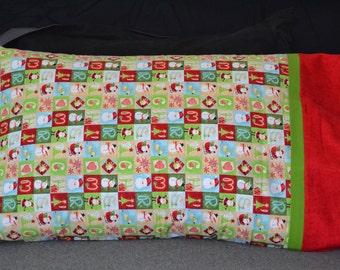 Christmas Blocks Pillowcase