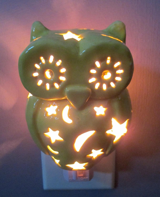 Ceramic Owl Night Light By LilysLights On Etsy