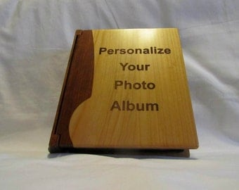 Personalized Wooden Photo Album With Your Custom Design - Large