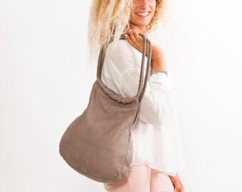 Sale!!! GREY Leather tote Bag, Genuine Soft Leather Bag, designer leather bag