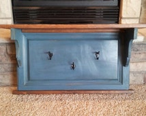 Handcrafted Mantle Shelf, custom designed and crafted of vintage, upcycled and distressed raw materials.