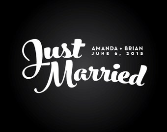 Personalized Just Married Decal