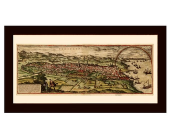 BARCELONA  OLD MAP poster 1572 - map of Barcelona - old map of Barcelona, spain - vintage map, retro world map,  map, xvi century map