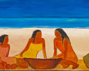 45. Women on Waimea Beach Hawaii