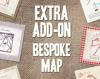 Bespoke Map Add on - Digital file to match invites