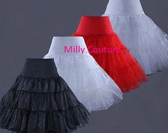Custom crinoline petticoat, tea length crinoline petticoat, available any color in our chart chart