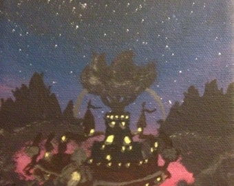 Nighttime in Ooo: The Candy Kingdom; Night Adventure Time Painting