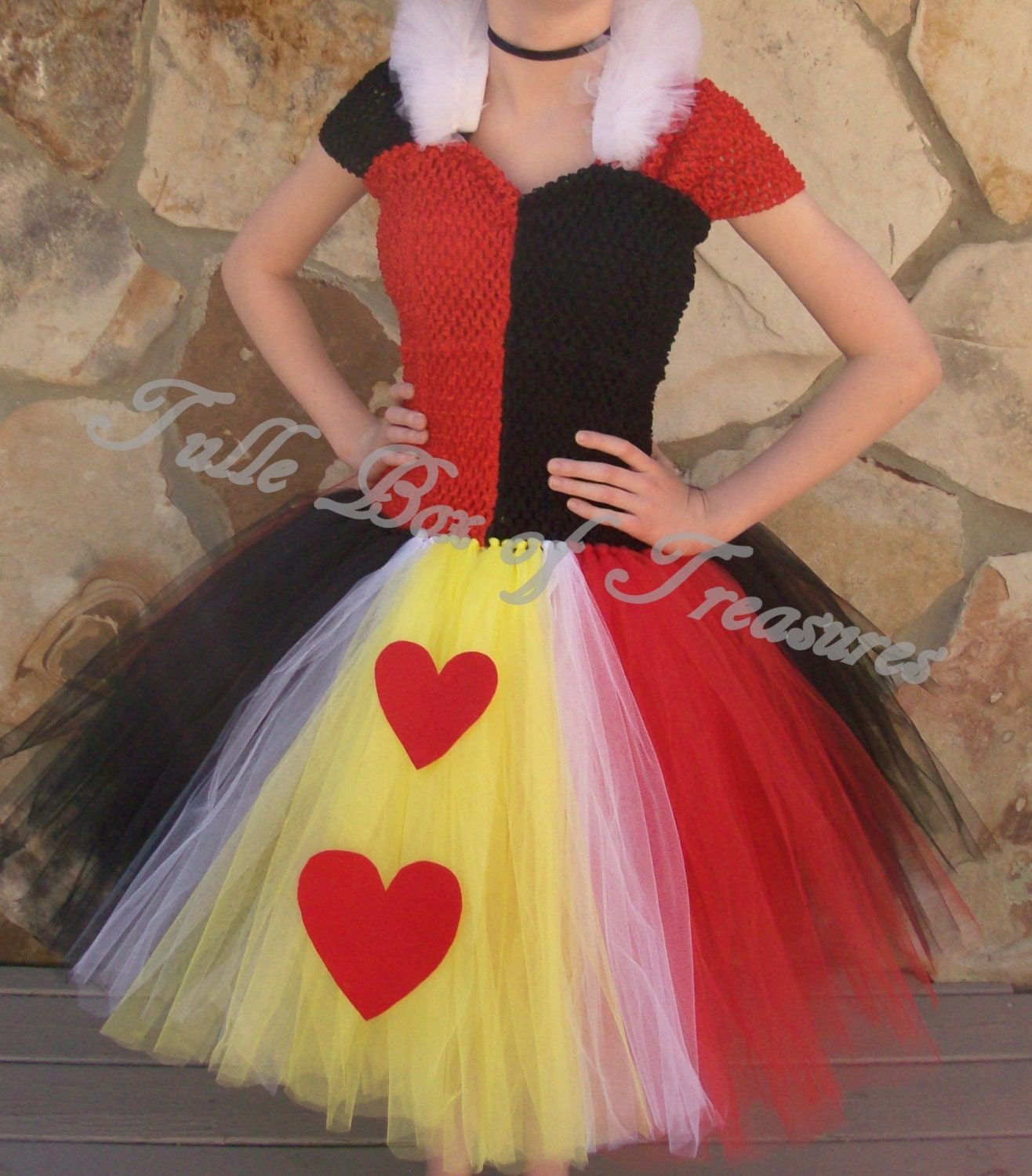 Queen Of Hearts Costume Diy Tutu Evil Red and Black Adu...