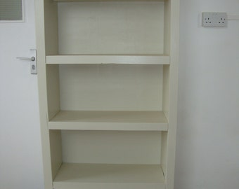 Chunky rustic reclaimed timber bookcase with draw