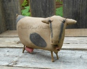 1 Primitive Noahs Ark Zoo Animal Cow Doll