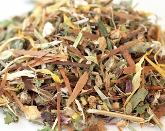 Above the Weather Organic Loose Leaf Tea ~ Herbal Tea ~ Cold and Flu Tea ~ Cough and Cold Tea ~  Sore Throat Tea ~ Congestion Tea