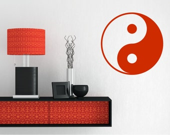 Custom Made Taoism Symbol Removable Wall Decor Decal Religion yin and yang Religious Decal Sticker