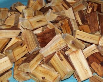 CHUNKS Wild American Plum Wood Meat Smoking BBQ Outdoor Cooking Grilling - 1 Pound - No Bark - Prunus americana
