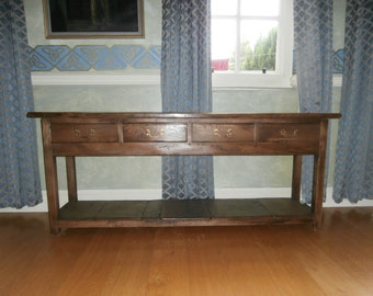 Custom Handmade Reclaimed Elm Wooden Server Or Side Board Custom Made By Artefacts Invernizzi