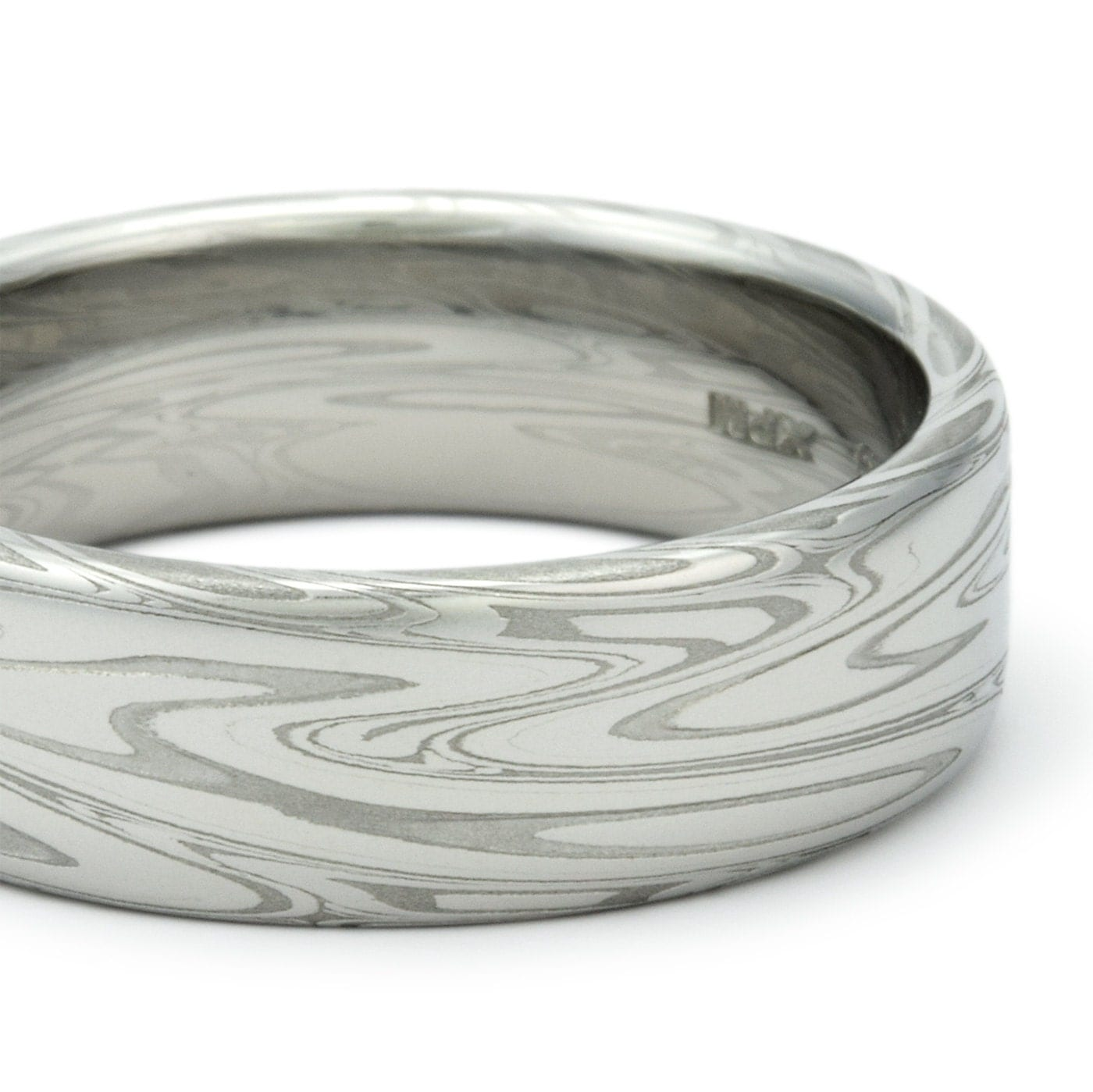 damascus steel ring for men unique wedding band flat with