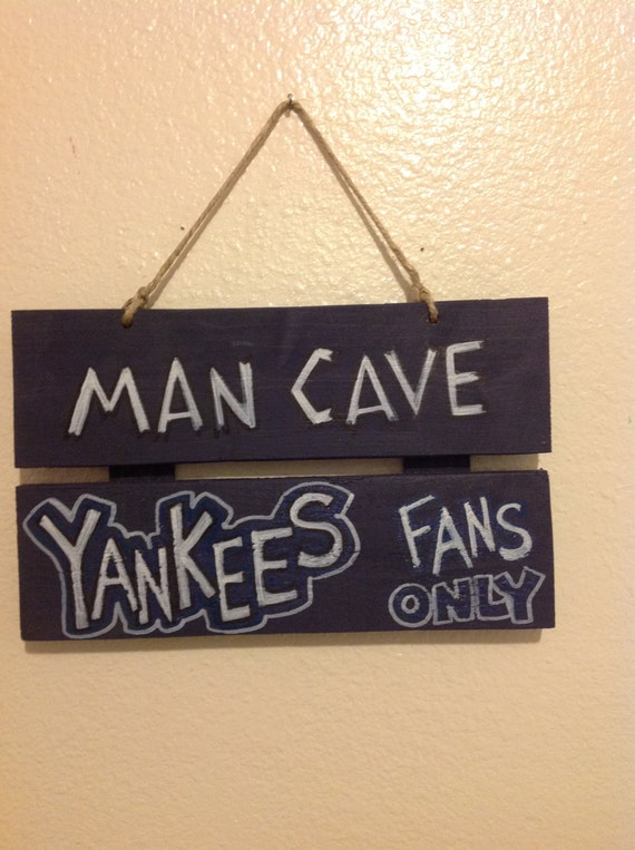 Man Cave Yankees : Items similar to yankees man cave sign on etsy
