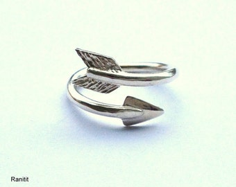 Arrow Ring Sterling Silver / Arrow Ring / Arrow Ring Silver / Adjustable Ring