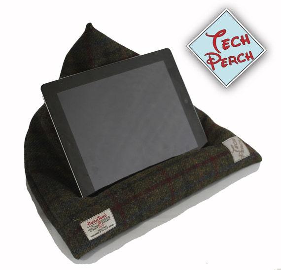 Harris Tweed Stand Kindle Ipad Tablet E Reader Beanbag