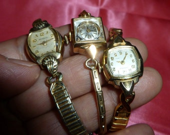 vintage windup watch lot of 3