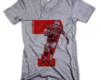 Colin Kaepernick NFLPA Officially Licensed San Francisco Womens Scoop Neck S-XL Kaepernick Sketch 7 R