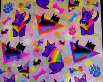 LISA FRANK stickers  S283  Puppy Dog Terrier Scottie Dog stickers