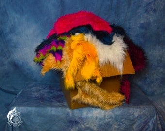 Large High Quality Scrap Fur Box