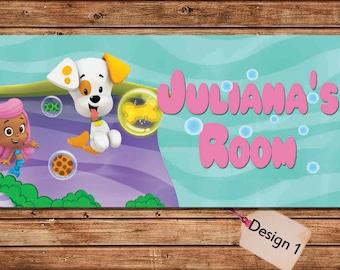 Bubble Guppies Kids Door Sign Kids Door Plaque Kids Door Signs Bedroom D Cor Room Sign Door