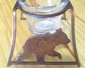 Custom bear candle holder