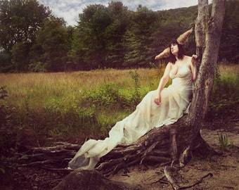 """Fine Art Photography Print- """"The Reverie of the Horned Goddess"""""""
