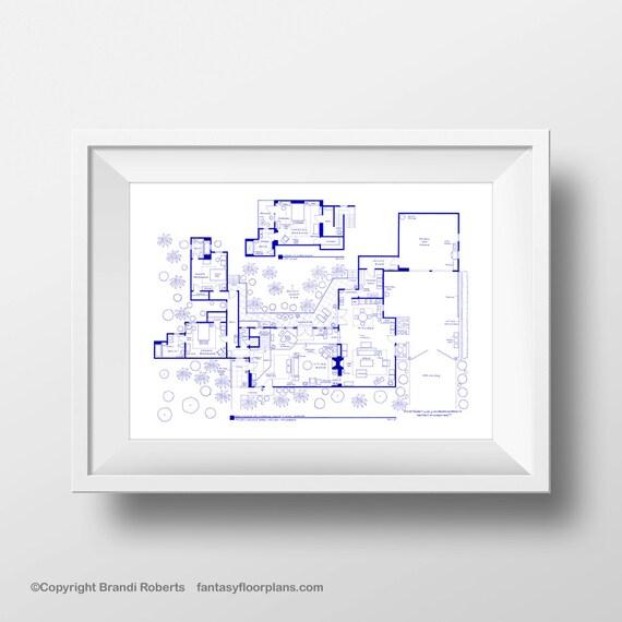 Two and half men house floor plan tv show floor plan for Two and half house plans