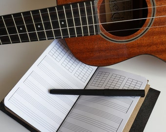 Journal Refill/Insert: Music and Chord Sheets, Guitar Ukulele Mandolin Bass, Banjo