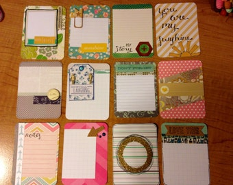 Handmade card set for project life