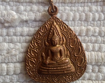 Copper Buddha Pendant from Thailand