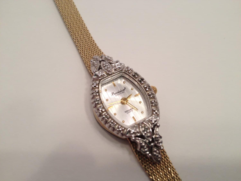 vintage gruen wrist watch marked usa 1950 39 s gold filled. Black Bedroom Furniture Sets. Home Design Ideas